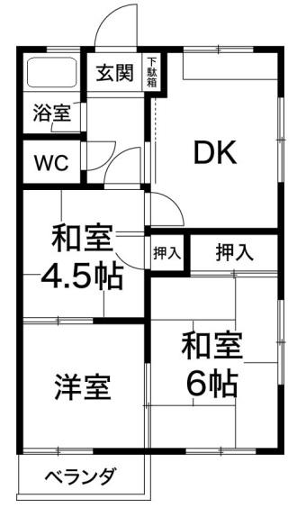 ケイアンドエスマンション白川台 神戸市須磨区白川台1丁目 賃貸マンションの図面