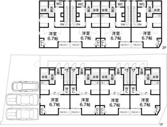 神戸市垂水区東垂水1丁目 収益ハイツの図面