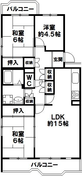 北落合第2住宅 神戸市須磨区北落合2丁目 中古マンションの図面