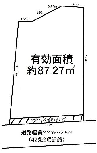 神戸市兵庫区都由乃町1丁目 売土地の図面