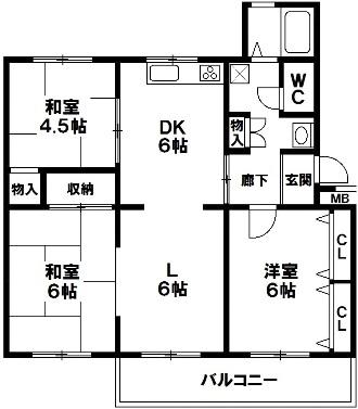白川台住宅10号棟 神戸市須磨区白川台2丁目 中古マンションの図面