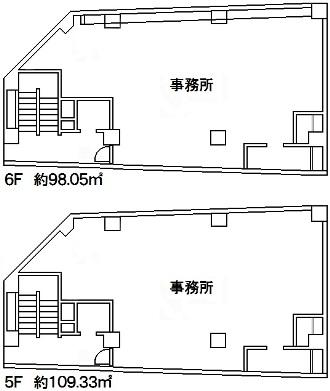 神戸市中央区古湊通1丁目 貸事務所の図面