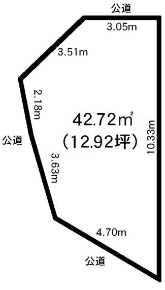 神戸市東灘区深江南町4丁目 売土地の図面