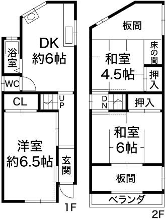 神戸市長田区大谷町3丁目 中古戸建の図面