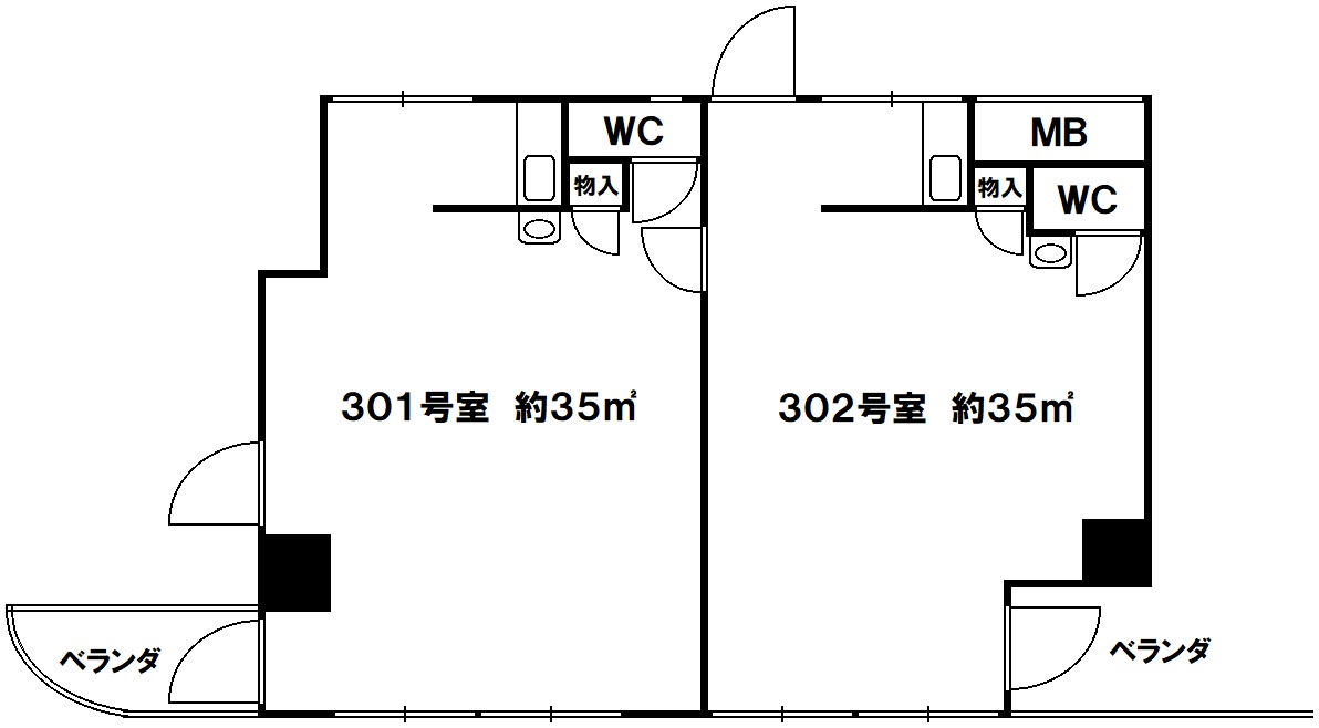 貸事務所 尾崎ビル 神戸市須磨区白川台6丁目の図面