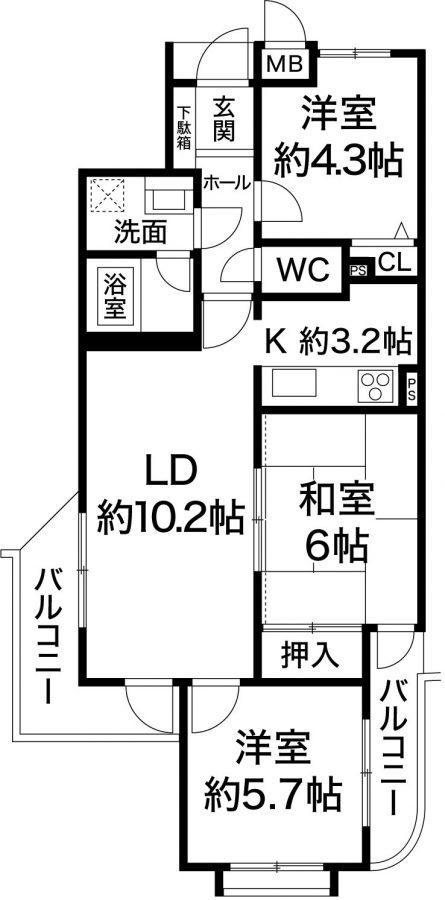 ワコーレアベニュー宮川 神戸市長田区宮川町2丁目 中古マンションの図面