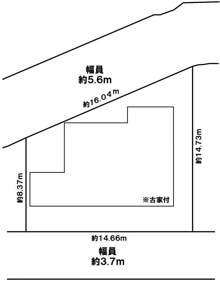 神戸市東灘区本山北町5丁目 売土地の図面