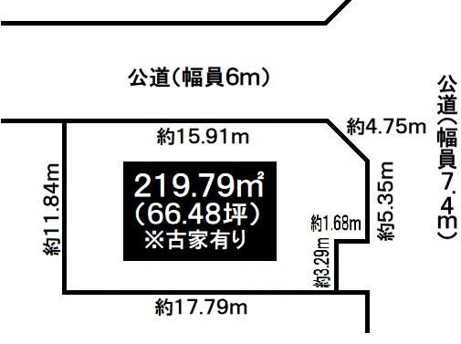 神戸市須磨区竜が台7丁目 売土地(上物有り)の図面
