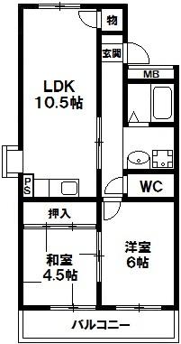 パークサイド太雅 4階 神戸市須磨区白川台5丁目 賃貸マンションの図面