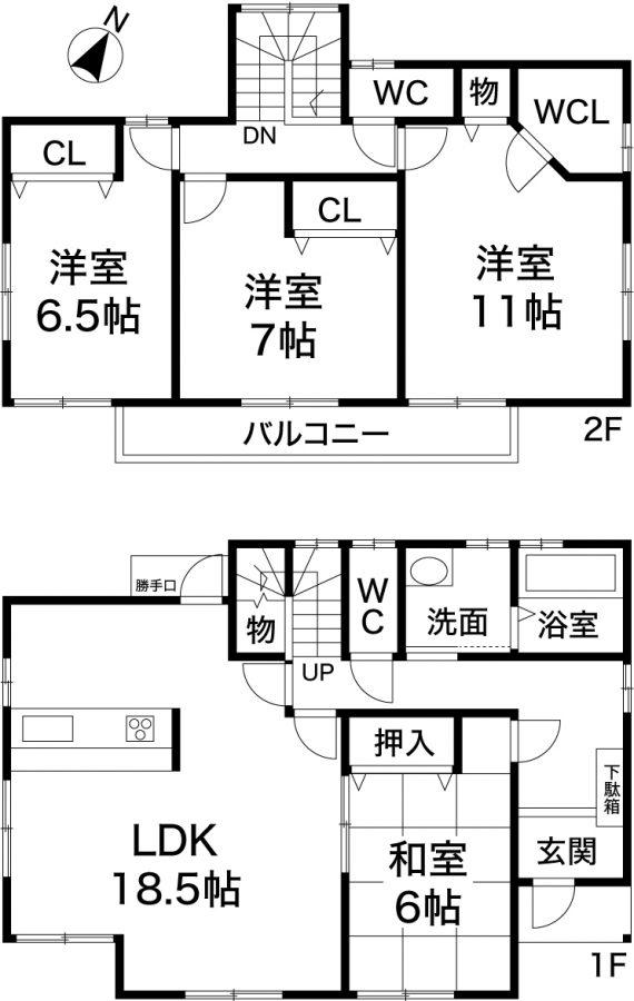 神戸市長田区上池田3丁目 新築戸建の図面
