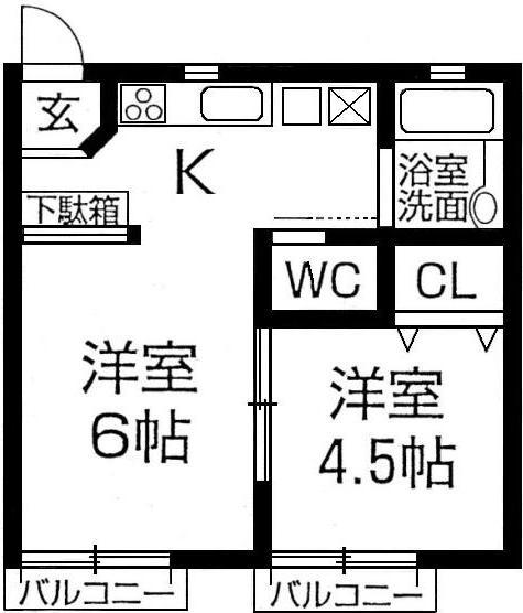 ハイツGODAI 神戸市須磨区潮見台町4丁目の図面