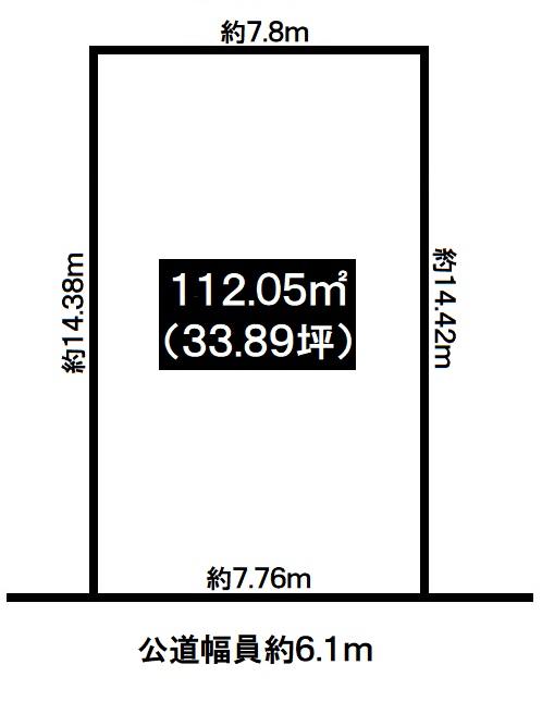 神戸市垂水区西舞子4丁目 売土地の図面