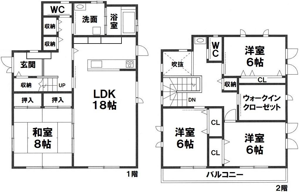 神戸市東灘区住吉山手2丁目 新築後未入居住宅の図面