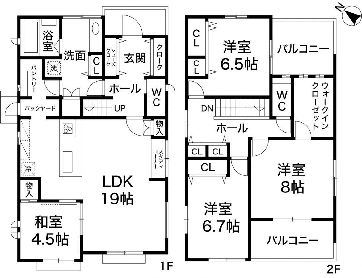 神戸市北区鈴蘭台南町5丁目 新築住宅1号地の図面