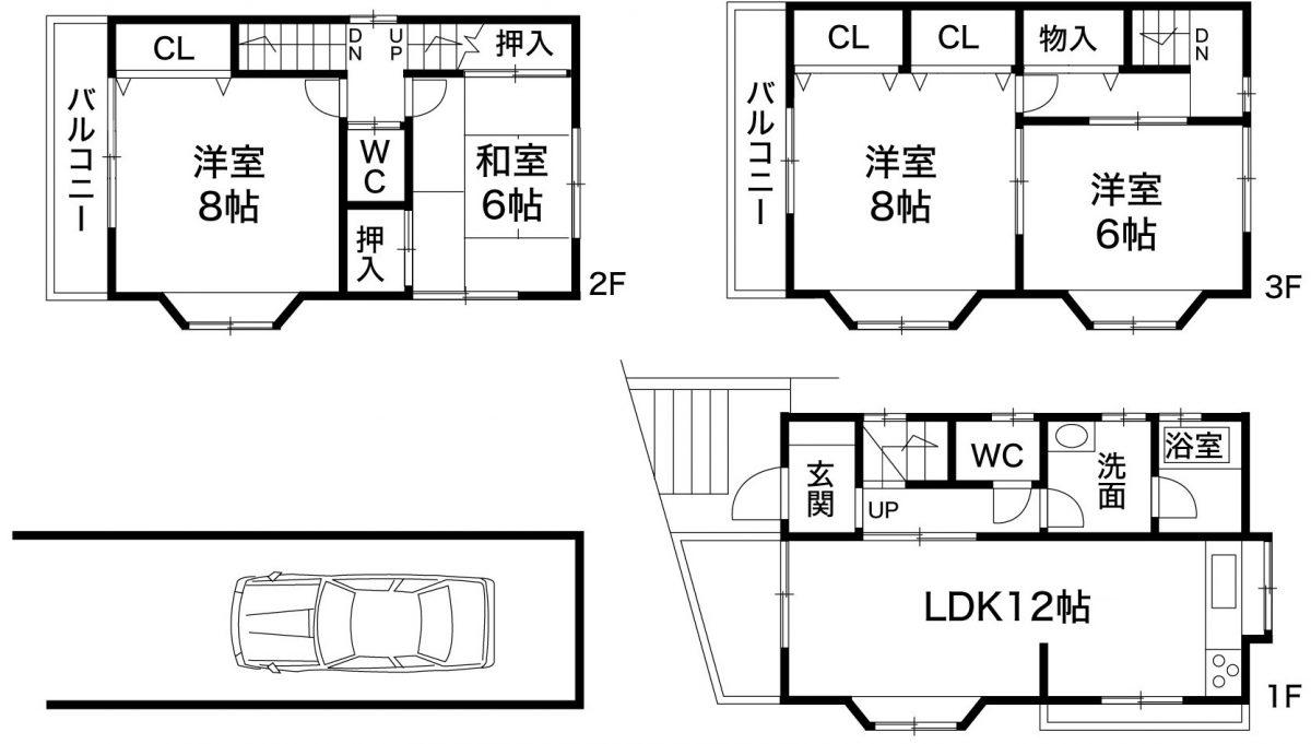 神戸市灘区上野通5丁目 中古住宅の図面