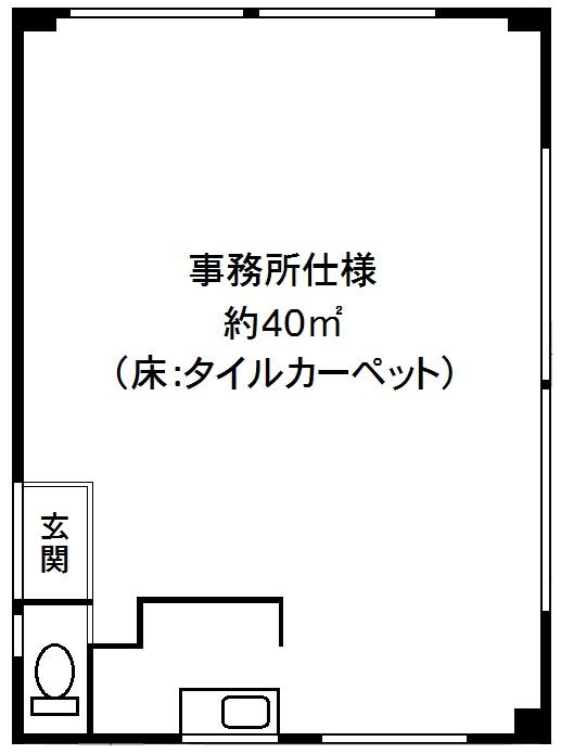貸事務所 JR線「兵庫」駅 神戸市兵庫区駅南通3丁目の図面