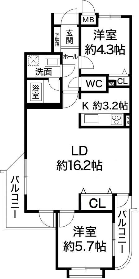 ワコーレアベニュー宮川 神戸市長田区宮川町2丁目 リノベーション済みの図面