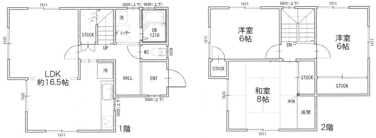 貸家 神戸市須磨区北落合2丁目 神戸市営地下鉄西神山手線「名谷」駅の図面