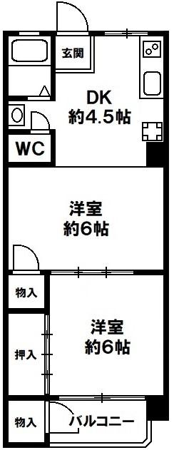 白川台マンション 神戸市須磨区白川台3丁目 ペット飼育可能の図面