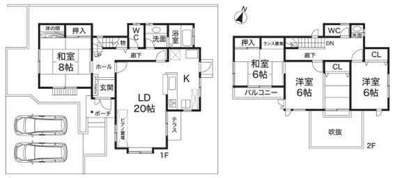 神戸市垂水区塩屋北町1丁目 中古戸建の図面