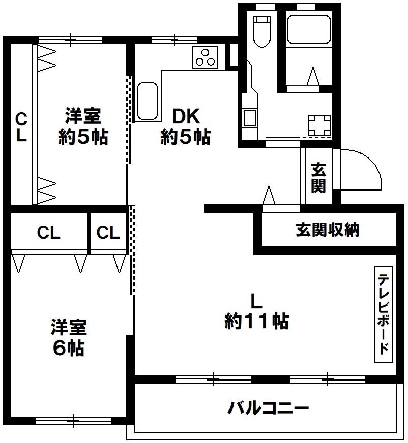 高倉台4団地18号棟 神戸市須磨区高倉台6丁目 リノベーション済みの図面