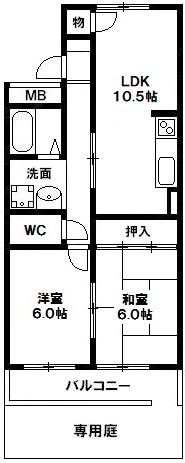 パークサイド太雅 1階 神戸市須磨区白川台5丁目 賃貸マンションの図面