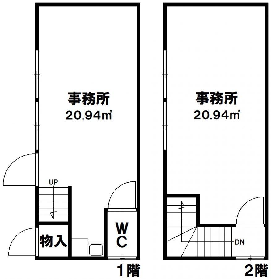 神戸市兵庫区荒田町1丁目 貸店舗・事務所の図面
