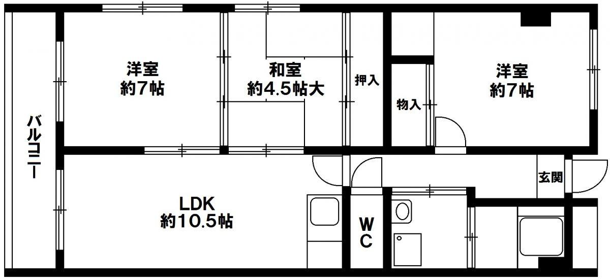 一棟収益ビル 神戸市須磨区白川台6丁目 森ビルの図面