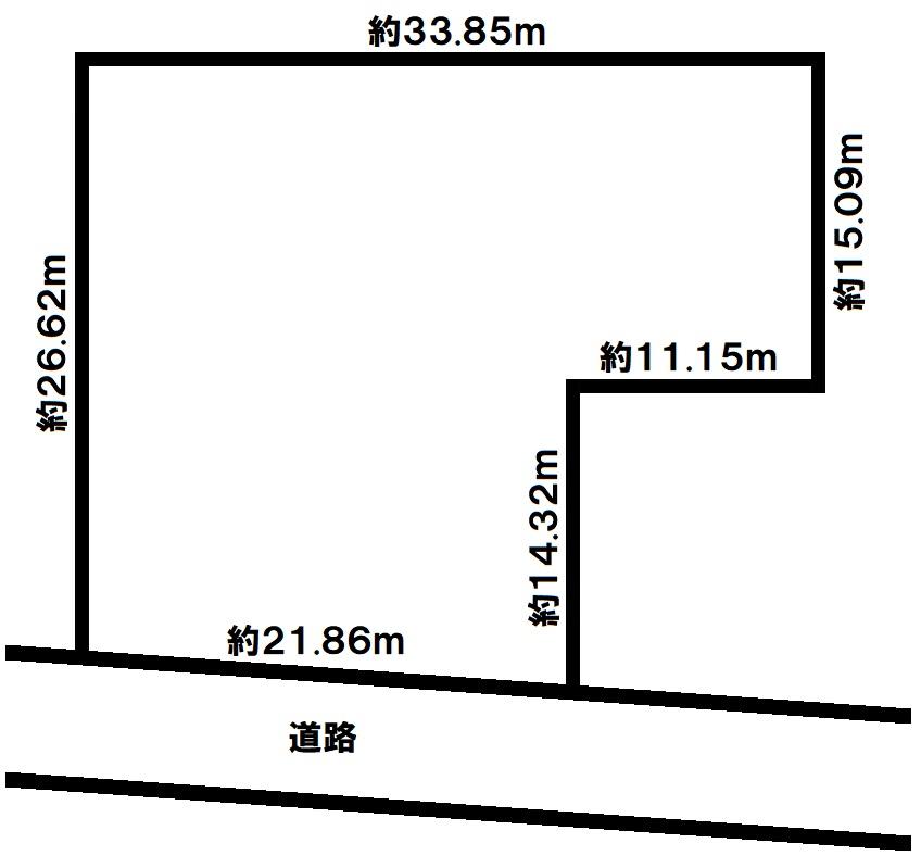 三木市別所町下石野 売土地の図面