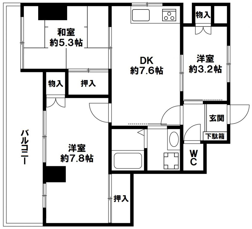 フォールヴィラ板宿 神戸市須磨区飛松町2丁目の図面